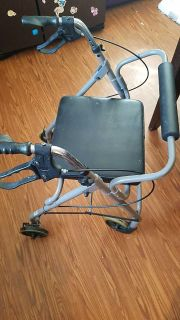 Foldable Wheeled Walker with attached seat