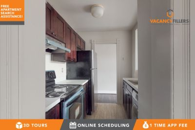 Spacious 1 bed in Station North w/laundry in unit & updated kitchen!