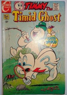 Timmy the Timid Ghost Comic Book No.18, 1970 Charlton Comics