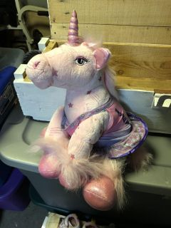 Build A Bear Pink Unicorn with clothes