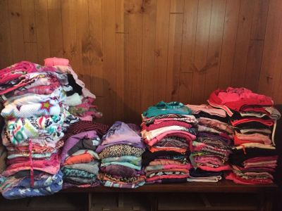 Large lot of girls size 14-16 clothes