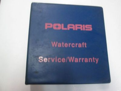 Sell 1992 1993 Polaris Personal Watercraft Service Manual Master Manual BINDER OEM motorcycle in Sterling Heights, Michigan, United States, for US $89.95