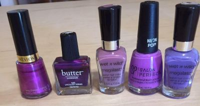 Nail polish!! Some used from each, but not much.