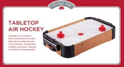 New table top air hockey game