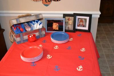 Everything needed for Nautical 1st Birthday
