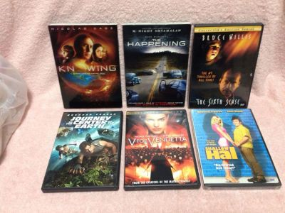 Six DVD's. Pick up at Target in McCalla on Thursdays 5:15 to 6:00pm.
