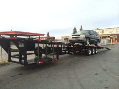 53 foot 4 Car Wedge Trailer
