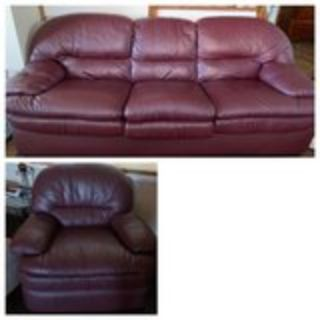 leather sofa bed and recliner