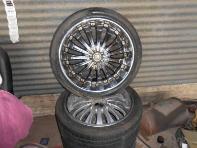 22 RIMS AND TIRES UNIVERSAL 6 LUG TRUCK