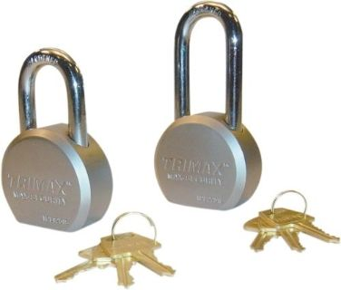 "Sell TPL2251L TRIMAX 64MM Solid Steel Padlock 2-25"" x 11MM Shackle 64mm round body motorcycle in Loudon, Tennessee, US, for US $21.99"