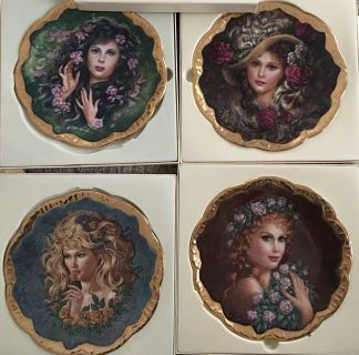 Symphony of Rose by Irene Spencer complete set of collector plates