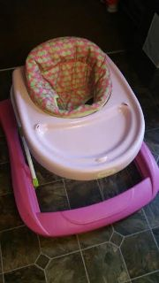 Pink / Green Whale Baby Walker