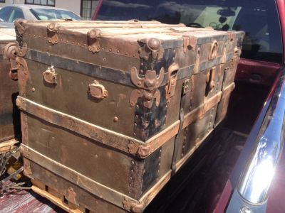 2 Old Rustic Trunks