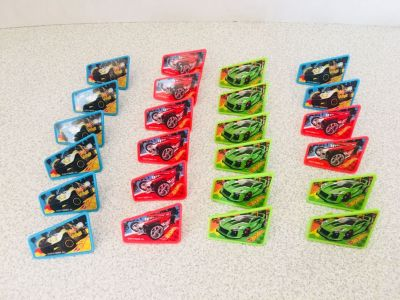 24 Hot wheels rings/cupcake toppers - new