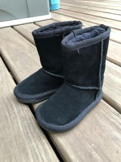 Black Zodiac size 5 toddler fuzzy-lined fashion boots-EXCELLENT condition!