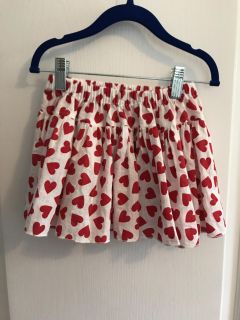 Cute red hearts skirts