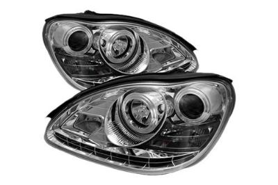 Purchase Spyder MBW220DRLC Chrome Clear Projector Headlights Head Light w LEDs DRL motorcycle in Rowland Heights, California, US, for US $526.80