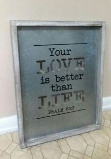 WOOD/METAL CHRISTIAN WALL DECOR.....EXCELLENT CONDITION
