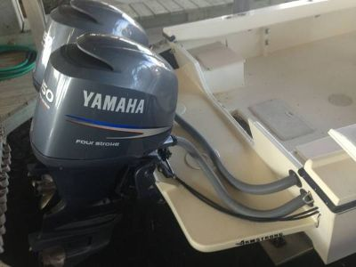 1998 Parker semi v with Twin Yamaha motors