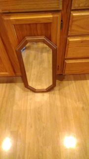 Mirror, wood frame, 22 long by 11 wide