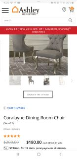 Coralayne dining room table