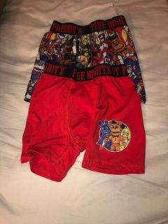 2 pair Five Nights at Freddy s Boxer Briefs