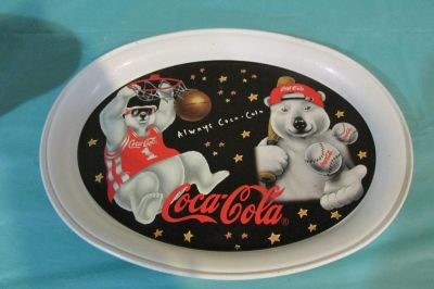 Coca Cola 1997 Sports Polar Bear Tin Tray
