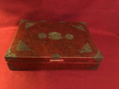 Vintage Silver Case. Photo of Inside Attached