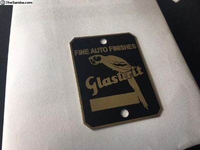 Vintage Glasurit tag