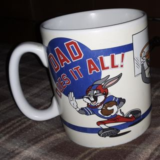 """Bugs Bunny """"Dad Does It All"""" Sports 30 Ounce Coffee Mug Cup"""