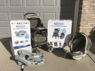 Graco Travel System - Stroller, car seat & bases