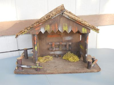 Vintage Nativity Manger Made in Italy