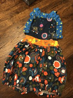 BOUtIQUE girls NWOT Jelly the Pug romper size 24mths/2T