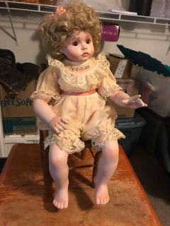 Georgetown Collection Peaches and Cream Porcelain Doll
