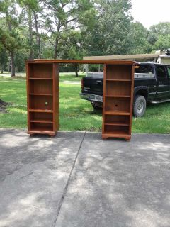 Solid wood adjustable entertainment center