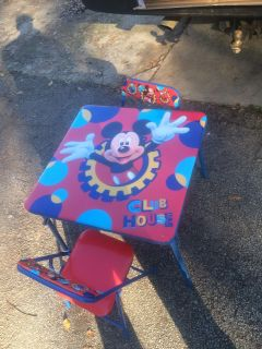 Mickey's Club House Table and Chairs- NEW