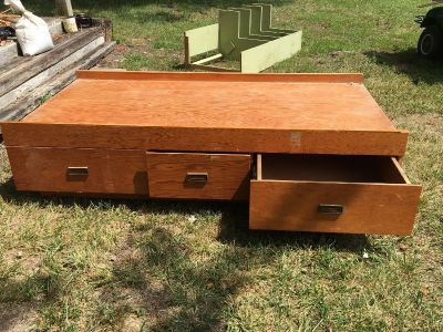 Twin bed frame with drawers. FREE