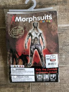 MORPHSUITS Child ZOMBIE Costume Size Large(12+)