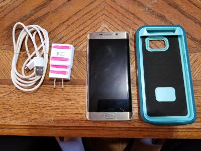 Samsung Galaxy S6 Edge Plus with case and charger AT&T carrier $450 OBO