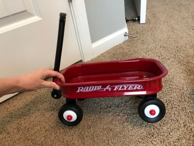 Small radio Flyer red wagon