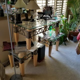 Glass top Coffee table with matching End tables