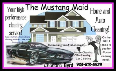 The Mustang Maid- House and Car cleaning (Sulphur Springs Tx.)
