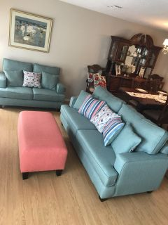 Couch and Loveseat with Ottoman