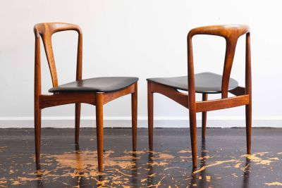 Vamo Sonderborg Mid Century Teak Accent Chairs