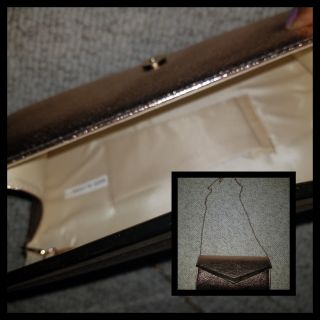 Rose Gold Clutch purse -long strap