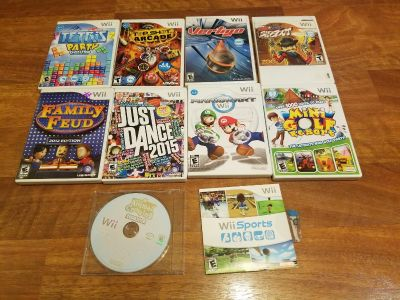 Wii games - not free, individually priced. READ DESCRIPTION