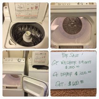 GE Washer-Dryer, prices OBO moving out sale!!
