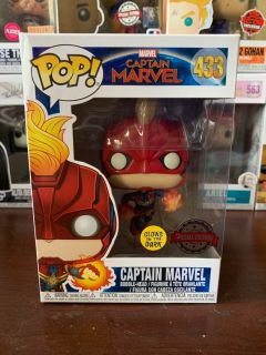 Glow in the Dark Captain Marvel (Target Exclusive) Exclusive Funko Pop