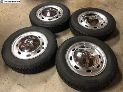 VW 4 lug wheels and tires