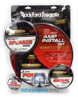Find RFK8X ROCKFORD FOSGATE 8 AWG GAUGE AMP SUBWOOFER AMPLIFIER WIRE INSTALLATION KIT motorcycle in Los Angeles, California, United States, for US $89.99
